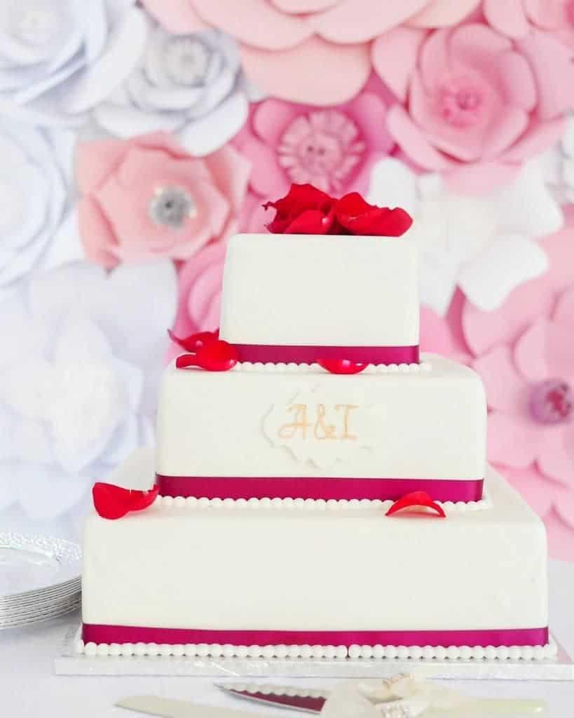 My pal, Mur De Fleur's amazing flower background against a chocolate with raspberry cream cake.