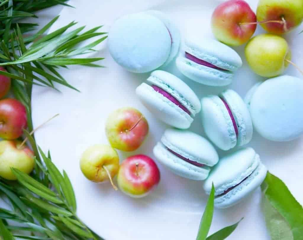 Dainty Baby Blue Cassis Macarons our lovely take home treatshellip