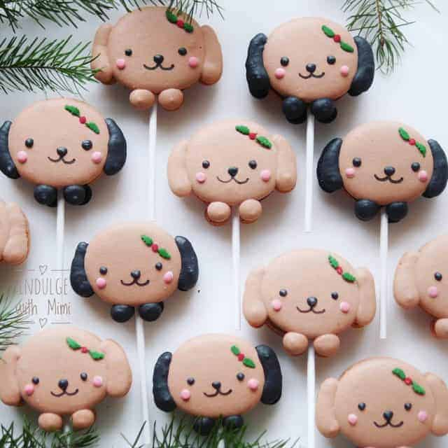 Christmas macaron puppy pops which do you prefer? Black earshellip