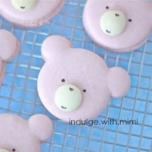 Cute Pink Bear Macarons