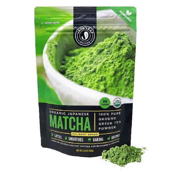 Jade Leaf Organic Matcha Green Tea Powder - Authentic Japanese Origin - Culinary Grade - Premium 2nd Harvest [3.53oz]