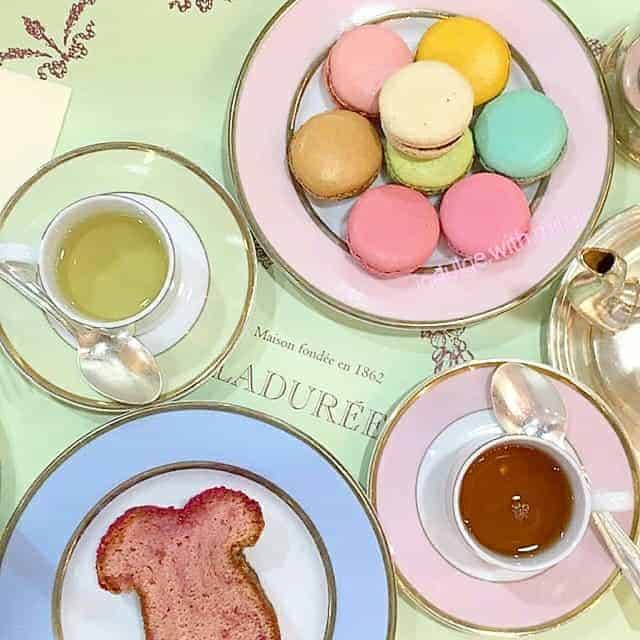 laduree macarons at the Tea Room in Causeway Bay, Hong Kong