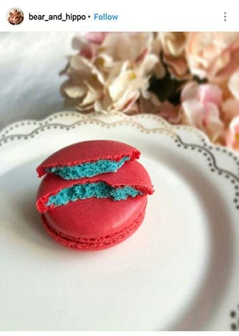 non-hollow 2 colour macarons