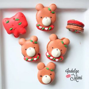Christmas Macaron Bear Tutorial with Template