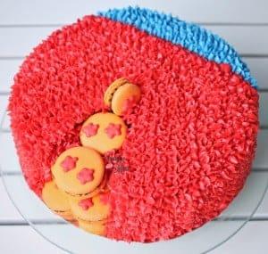 Dragon Ball Macaron Surprise Cake with VIDEO & TEMPLATE