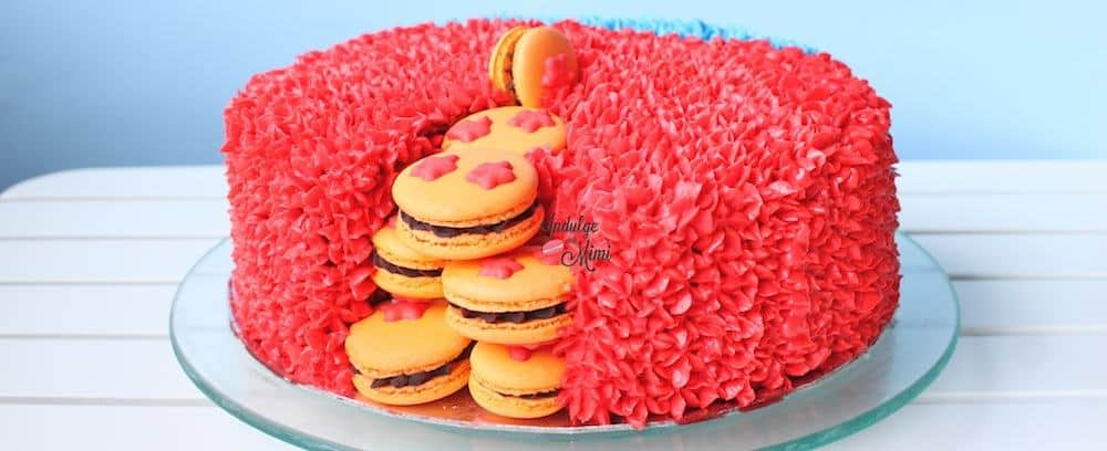 Dragon Ball Macaron Surprise Cake with VIDEO & TEMPLATE