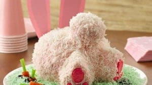 "Hilarious bunny bum cake as seen on www.bettycrocker.com under ""Bunny Butt Cake"""
