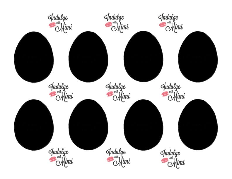 How to add speckles to easter egg macarons with template egg template pronofoot35fo Images