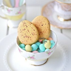 How to Add Speckles to Easter Egg Macarons with Template