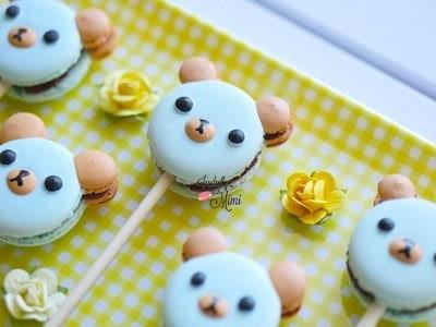 panda bear macarons