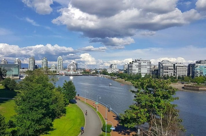 Getting some excercise by walking to events instead of driving. You also get to see views like this on the Cambie Bridge.