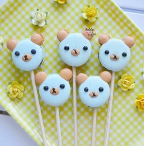 Cute Panda Bear Macarons with Template