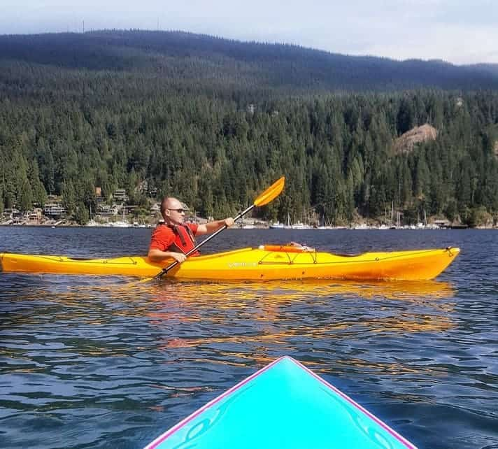 Paddle boarding at Deep Cove. It's one of the best ways to spend the a hot sunny day. Sometimes we even see sea lions.
