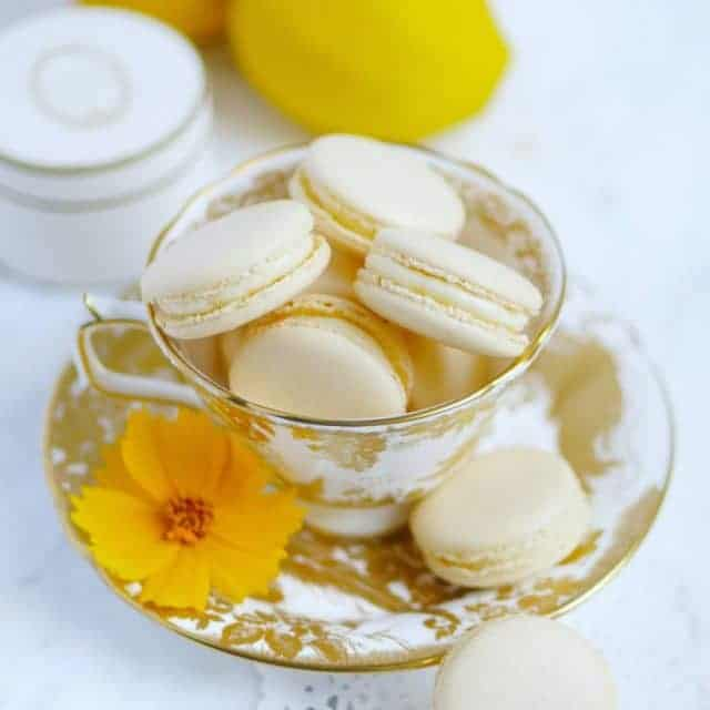 Real lemony macaron filled with a sturdy lemon curd thathellip