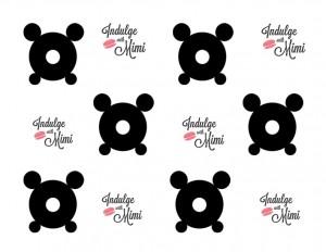 macaron bear template with feet