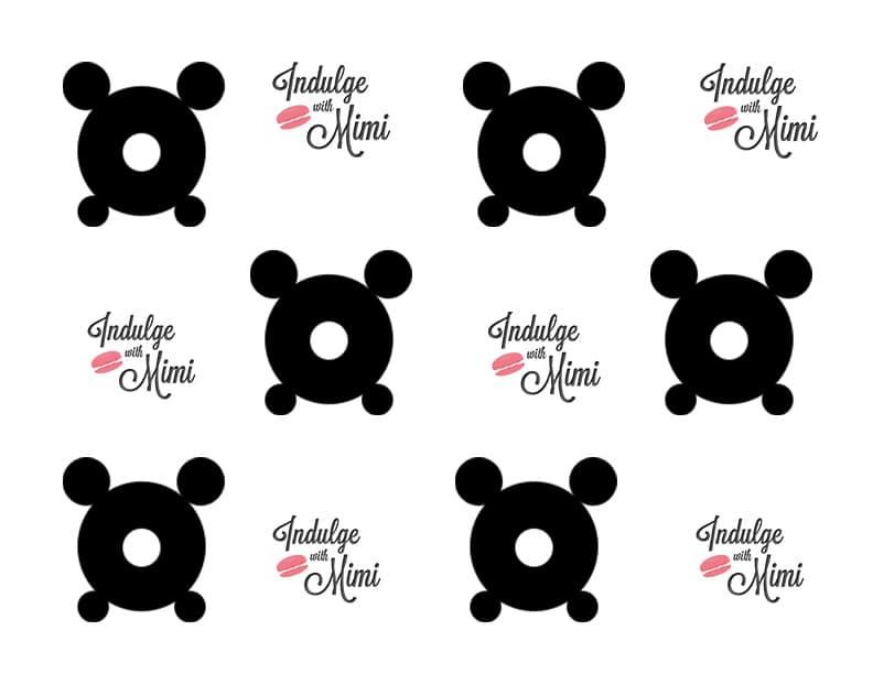Macaron bear template with feet for Panda bear cake template