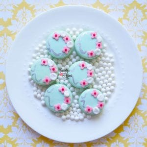 Cherry Blossom Wedding Macarons with Royal Icing Roses