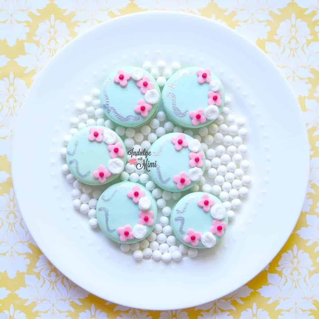 sakura wedding theme macarons