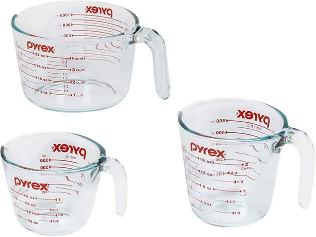 Pyrex Prepware 3-Piece Measuring Cup Set (1048616)