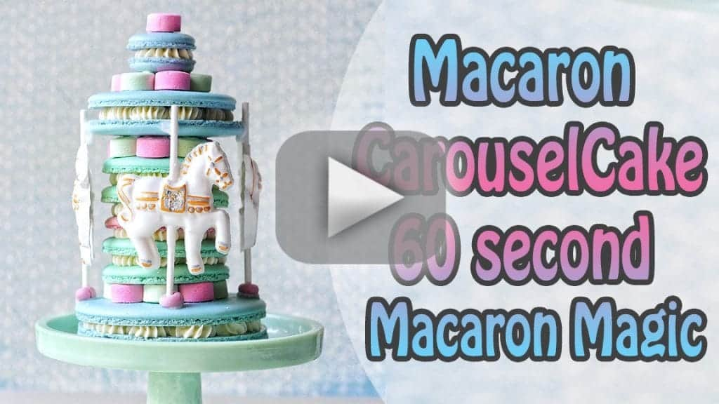 horse carousel macaron cake collab with silpat mats giveaway w
