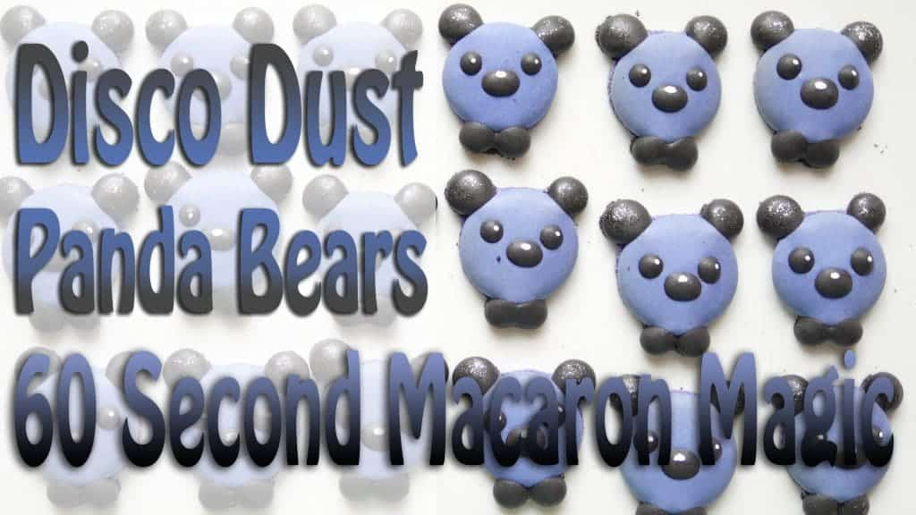 Disco Dust Panda Bear Macarons