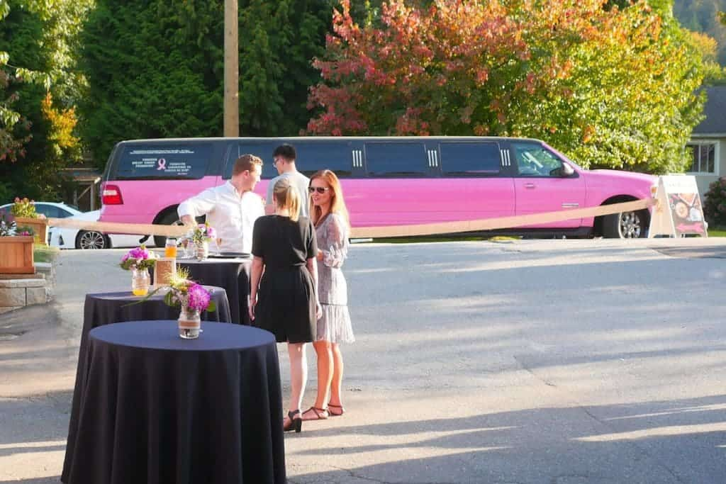 pink-breast-cancer-support-limo