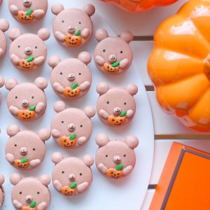 Double Chocolate Bears with Tiny Jack-O-Lanterns (w/Template)