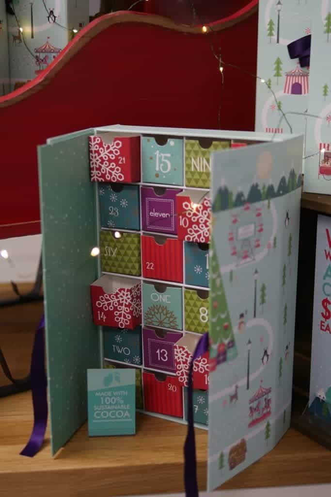 Premium Advent Calender. It is very substantial and stands sturdily on the table giving you a beautiful table decoration as well as a sweet treat per day until Christmas.