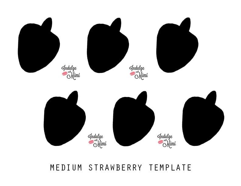 Strawberry macaron template.