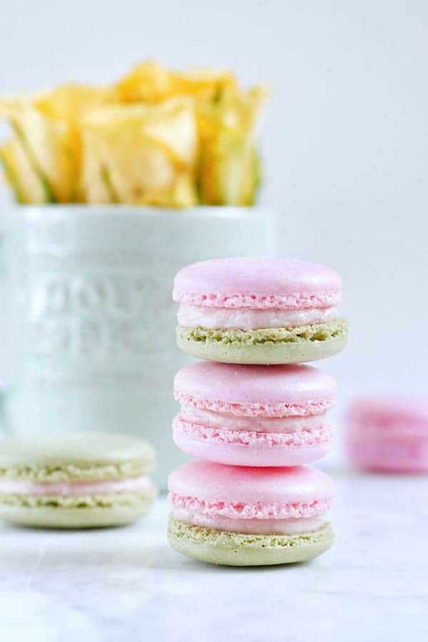 Giveaway Strawberry Basil Macarons Made With Real Strawberries Template Indulge With Mimi