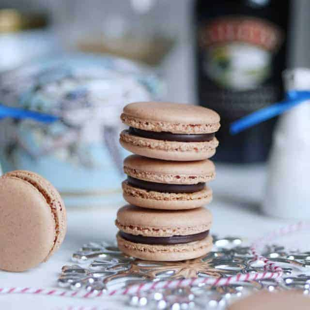 Boozy gingerbread macarons filled with baileysofficial Irish Cream chocolate ganachehellip