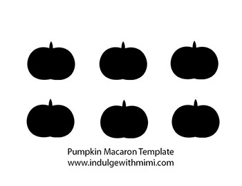 Pumpkin macaron template.