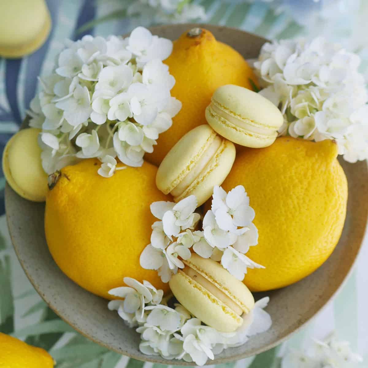 "Lemon Macarons Made with a Sturdy ""Macaron-Friendly"" Lemon Curd Center"