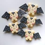 Baby Pooh Bear Macarons with Batman Halloween Costumes (Template)