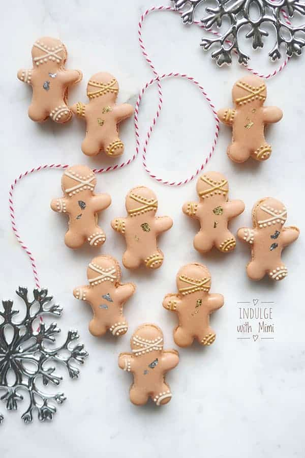 Baileys irish cream gingerbread man macarons for the winter holidays free macaron templates for this project maxwellsz
