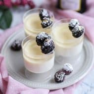 New Years Sparkling Wine Panna Cotta - 2 in 1 Drink and Dessert