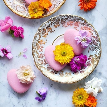 Delicate Lychee Rose Macarons Made with Real Lychees