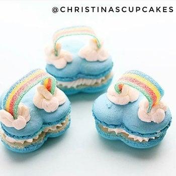rainbow-macarons