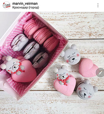 reader's macaron photos using indulge with mimi's recipe