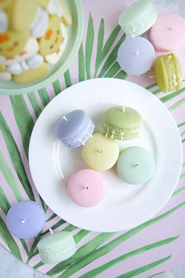 powder gift set unscented macaron candles set of 5