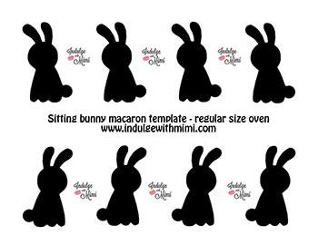 Bunny macaron template.