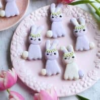 Lavender Earl Grey Easter Bunny Macarons (Template)