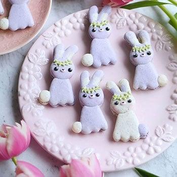 Lavender Earl Grey Bunny Macarons
