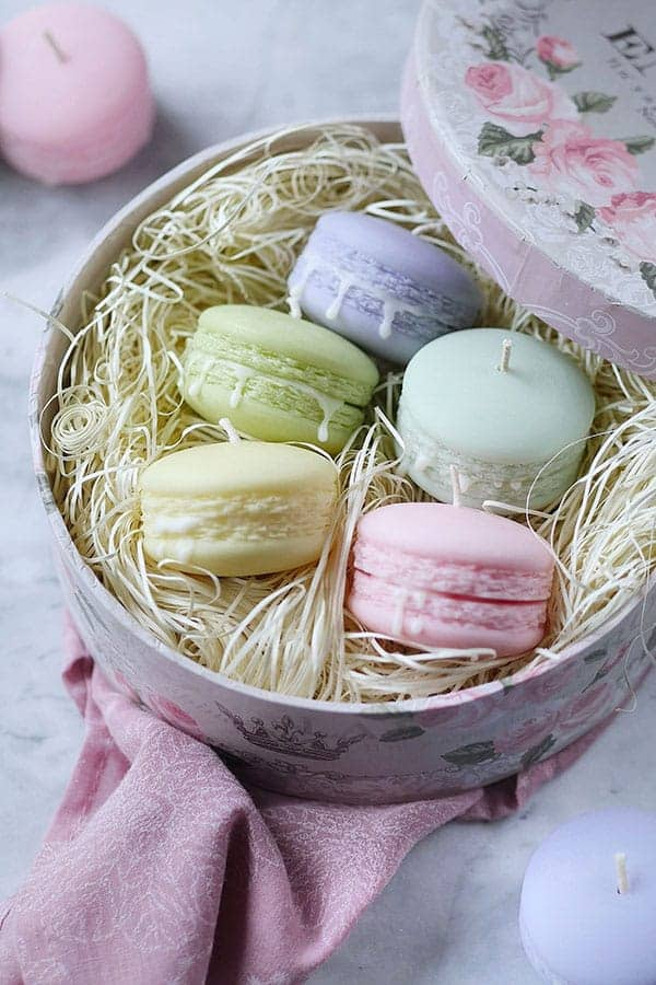 Deluxe powder gift set unscented macaron candles set of 5 with deluxe powder gift set unscented macaron candles set of 5 with gift box negle Choice Image
