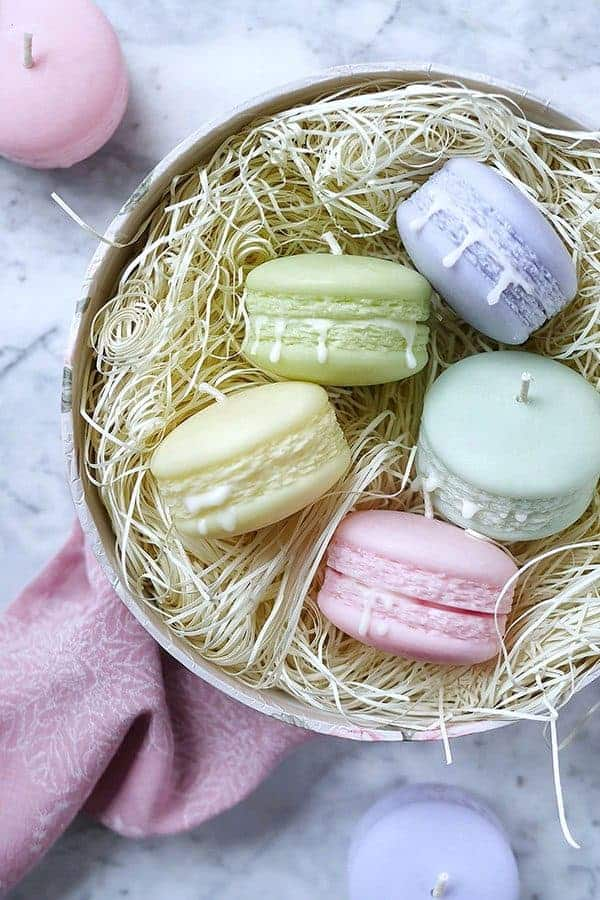Deluxe icing gift set scented macaron candles set of 5 with gift box negle Images