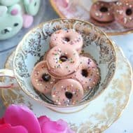 Coffee Donut Birthday Macarons