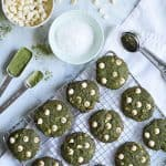 Matcha White Chocolate Chip Cookies with Coconut