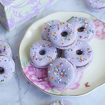 Naturally Flavored Lavender Macarons with Lavender Chocolate Ganache