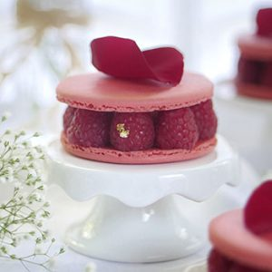 """Ispahan"" Inspired Macaron Cake with Fresh Lychees & Raspberries"