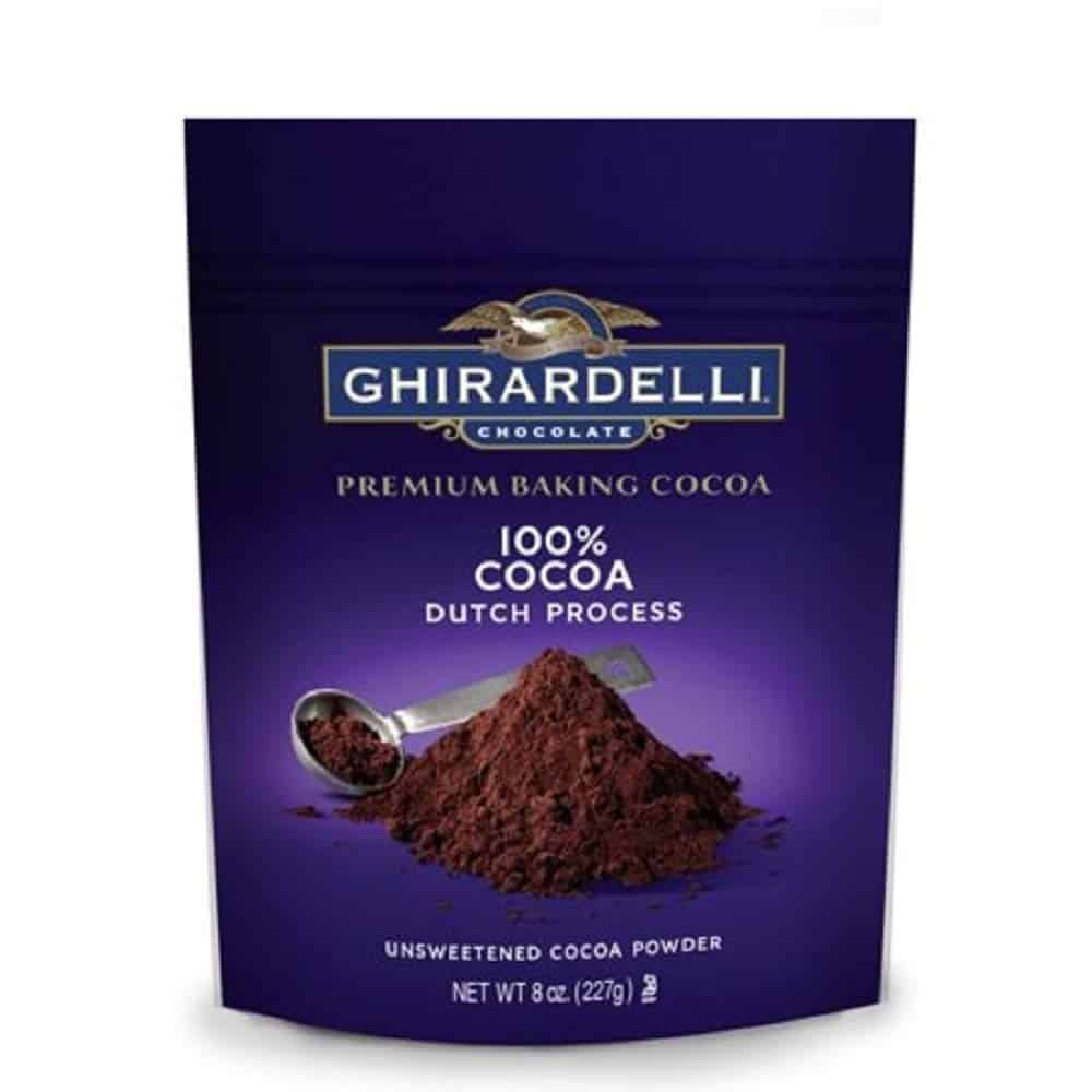 Ghirardelli Unsweetened Dutch Process Cocoa Pouch, 8 oz